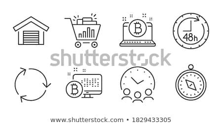 Bitcoin réunion vecteur carte pays Photo stock © robuart