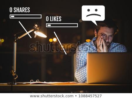 görüntü · yorgun · iş · adamı · sorunları · çalışmak · oturma - stok fotoğraf © wavebreak_media