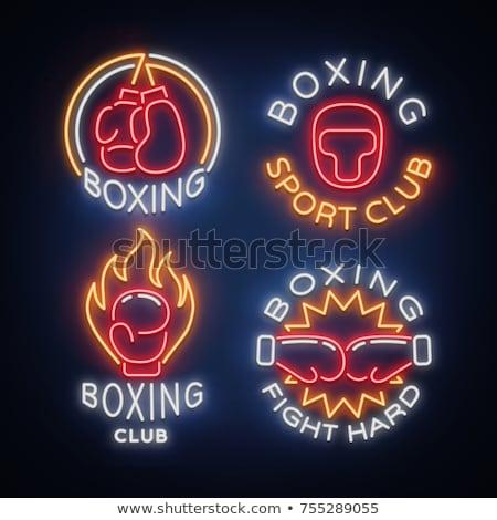 Boxing Neon Label Stock photo © Anna_leni