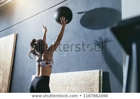 мяча · спортзал · женщину · спорт · фитнес - Сток-фото © phbcz