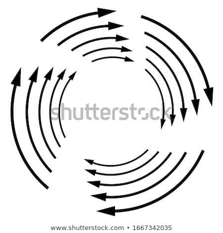 Rotating, circular, cyclic arrows. Spin, twist, rotation, change, sync, synchronization, reverse, re Stock photo © kyryloff