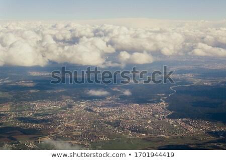 самолет мнение деревне пейзаж облака Сток-фото © vapi