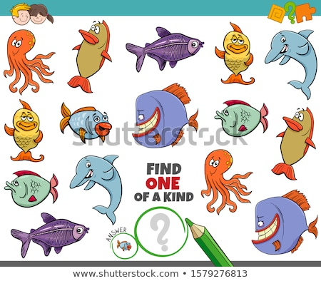 one of a kind game for kids with sea animals Stock photo © izakowski