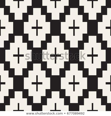 Sem costura padrão estilizado simétrico geométrico papel de parede Foto stock © samolevsky