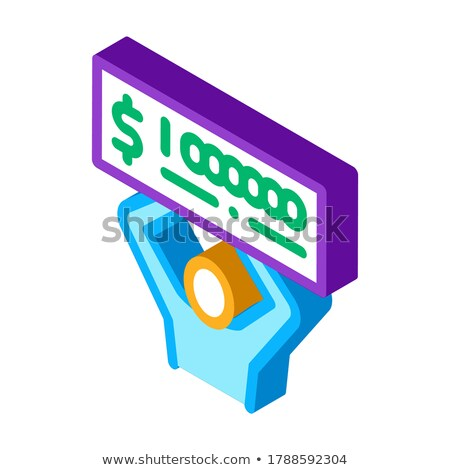 Winner with Check Million isometric icon vector illustration Stock photo © pikepicture
