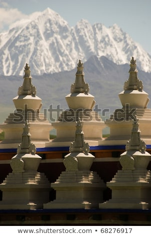 Golden summit of a lamasery Stock photo © bbbar