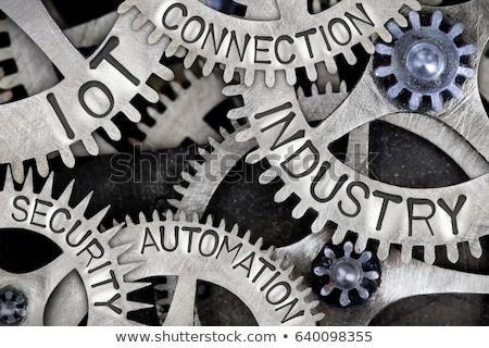 セキュリティ 言葉 金属 ビジネス 単語 オフィス ストックフォト © Ansonstock