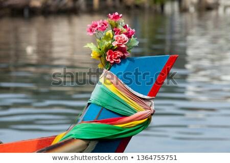Thai ingericht vissersboot levendig doek Stockfoto © duoduo