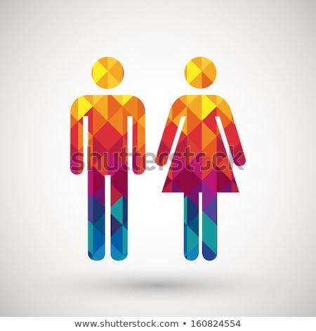 ストックフォト: ダイヤモンド · 男性 · 女性 · ジェンダー · シンボル · 黒