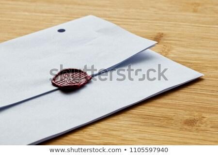 Rood wax personeel stempel brief pot Stockfoto © premiere