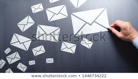 メール · 抽象的な · 量 · 芸術 · 手紙 · 通信 - ストックフォト © icefront
