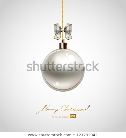 Stockfoto: Mooie · christmas · bal · illustratie · eps · vector
