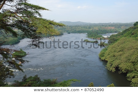 Aerial View Around Bujagali Falls In Africa Photo stock © PRILL