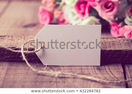 Ruhaszárító címkék fehér fix ruházat fekete Stock fotó © gewoldi