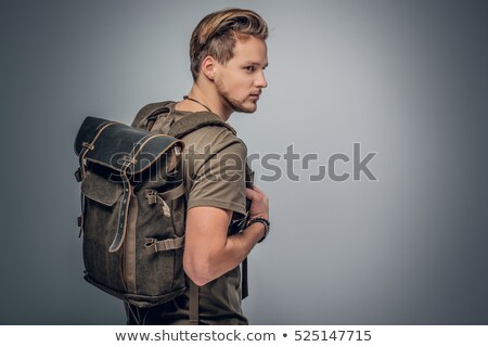 Studio portrait of a hitchhiker Stock photo © photography33