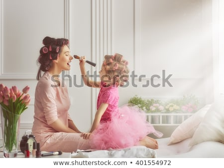 Leuk mamma moeders hart altijd kinderen Stockfoto © lovleah