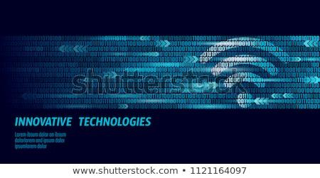 Breedband illustratie veel verlicht groene Stockfoto © 72soul