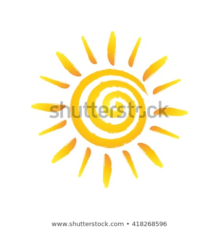 zon · spiraal · eenvoudige · aquarel · illustratie · abstract - stockfoto © galyna