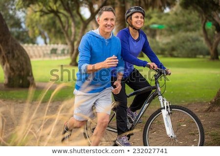 two elderly couples on bike ride stock photo © photography33