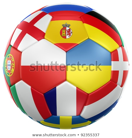 Euro 2012 drapeaux championnat eps10 fichier utilisé Photo stock © kovacevic