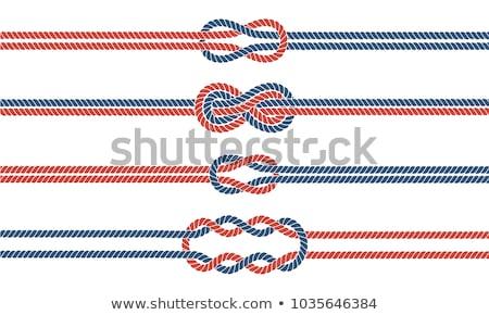 Knot, blue thread,   abstract frame Stock photo © Artida