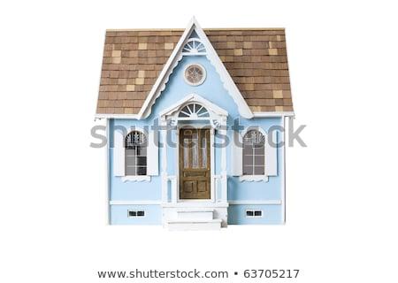 дома игрушку двери строительство домой синий Сток-фото © Paha_L
