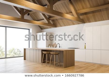 parça · eski · ahşap · çatı · ev · doku - stok fotoğraf © aliftin