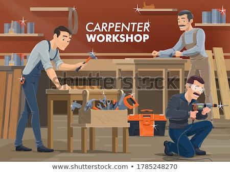 ремесленник ключа совета фон оранжевый инструменты Сток-фото © photography33