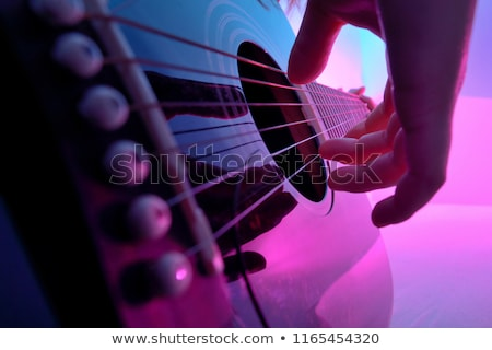 若い女の子 · ギタリスト · 歌 · 演奏 · エレキギター - ストックフォト © keeweeboy