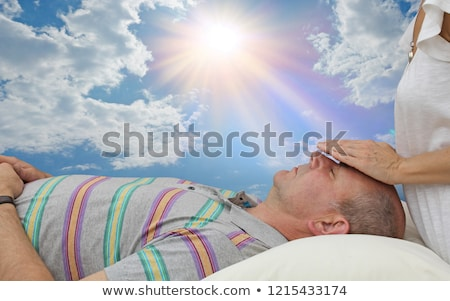 Relaxed worker laid on a cloud Stock photo © photography33