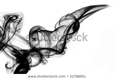 Magic Fume Abstract Over White Stok fotoğraf © Arsgera
