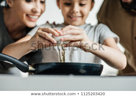 Omelet Close Up Stock photo © zhekos