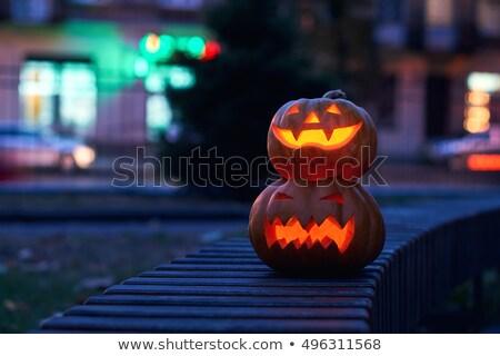 Halloween rosszaság fiatal tini fiú jelmez Stock fotó © lisafx
