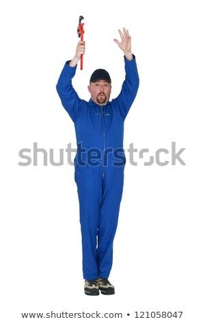 adam · İngiliz · anahtarı · hava · çalışmak · işçi · endüstriyel - stok fotoğraf © photography33