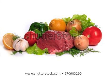 Сток-фото: свежие · мяса · изолированный · белый · стороны