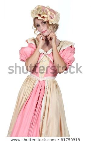 Woman in flouncy period dress Stock photo © photography33