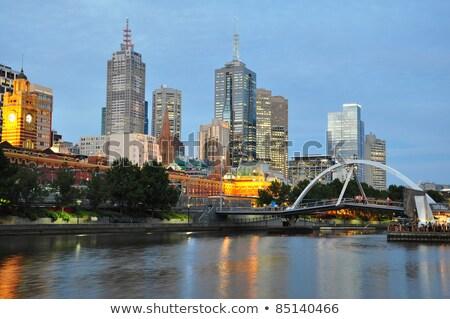 Austrália cityscape imagem Melbourne escritório azul Foto stock © sumners