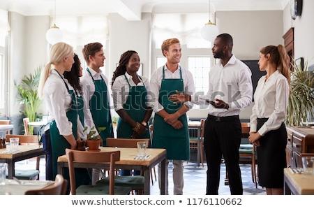 ristorante · personale · business · cucina · lavoratore · servizio - foto d'archivio © photography33