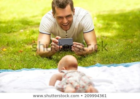 Pai filha fotos céu parque Foto stock © Kuzeytac