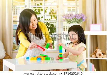 pregnant woman with building blocks stock photo © photography33