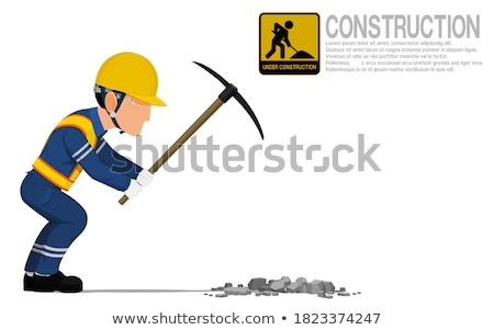 Laborer using a pickaxe Stock photo © photography33