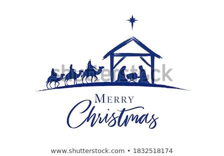 Burro Navidad estable animales nariz Foto stock © tepic