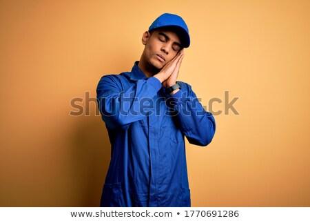 портрет молодые ремесленник Cap лице Сток-фото © photography33