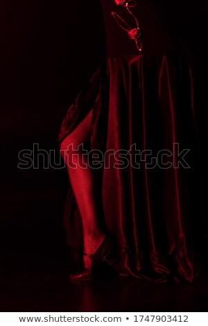 Mulher jovem dançar um em espanhol flamenco Foto stock © vetdoctor