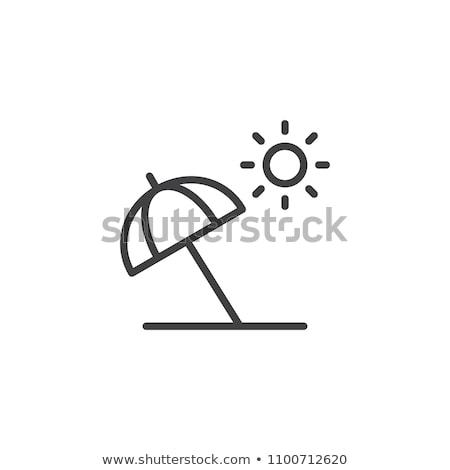 ícone guarda-sol guarda-chuva férias férias Foto stock © zzve