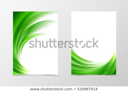 Résumé vague floral papillon feuille vert Photo stock © rioillustrator