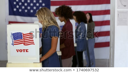 voter in the voting booth. voting in a democracy Stock photo © dacasdo