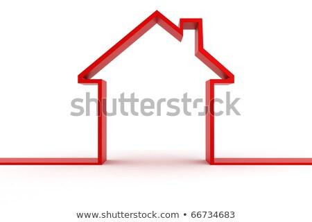 3D · domu · metafora · budynku · charakter - zdjęcia stock © digitalgenetics