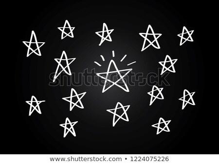 star-shaped blackboard Stock photo © nito