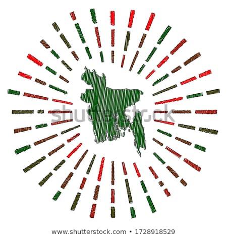 флаг Бангладеш стороны цвета стране стиль Сток-фото © claudiodivizia